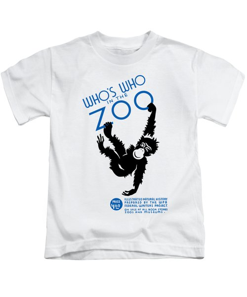 Who's Who In The Zoo - Wpa Kids T-Shirt