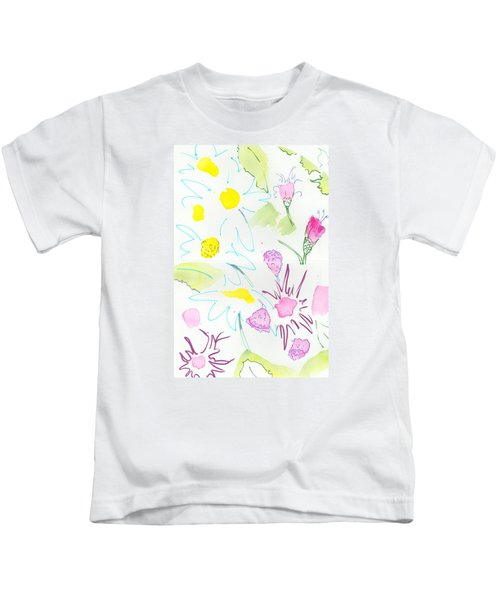 Wild Daisies Pattern Kids T-Shirt