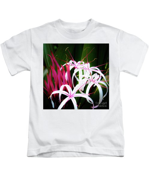 Wild Flowers In Hawaii Kids T-Shirt