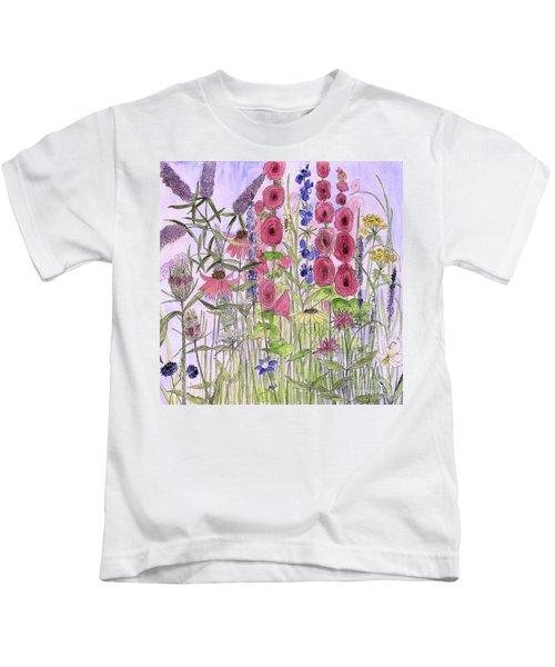 Wild Garden Flowers Kids T-Shirt
