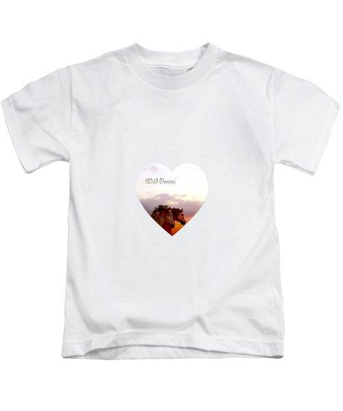 Wild Moorland Ponies Kids T-Shirt