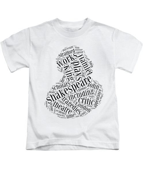 William Shakespeare Word Cloud Kids T-Shirt