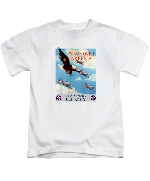 Wings Over America - Air Corps U.s. Army Kids T-Shirt by War Is Hell Store