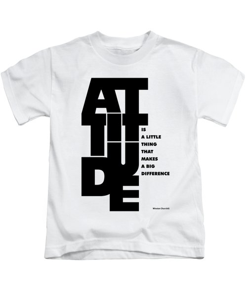 Winston Churchill Inspirational Typographic Quotes Poster Kids T-Shirt