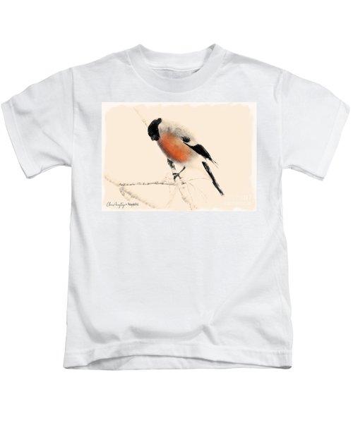 Winter Bullfinch Kids T-Shirt