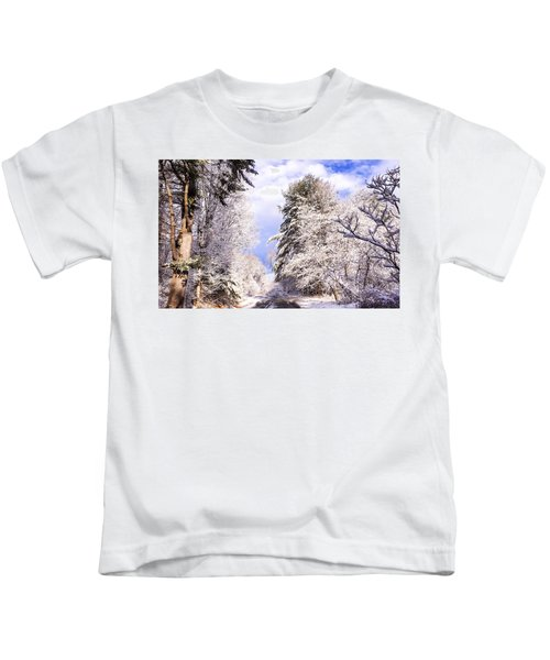 Winter Drive Kids T-Shirt