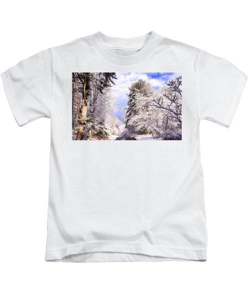 Winter Drive Kids T-Shirt