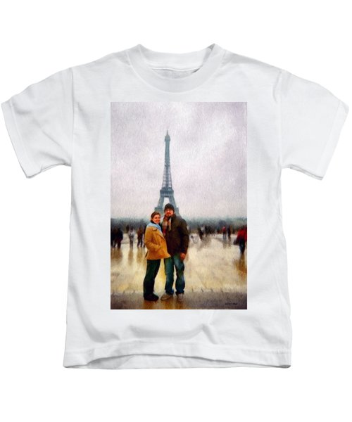 Winter Honeymoon In Paris Kids T-Shirt
