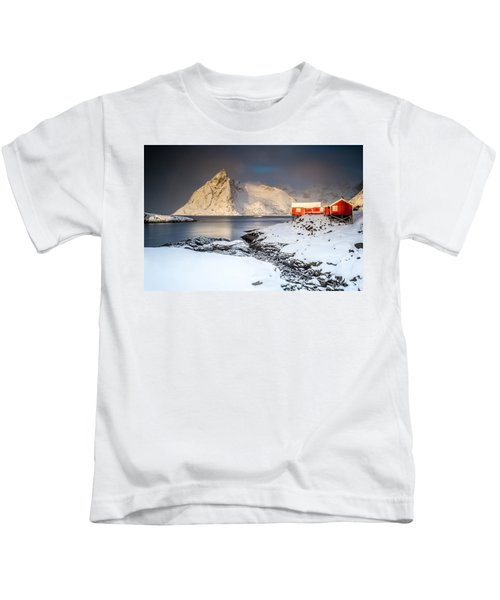 Winter In Lofoten Kids T-Shirt