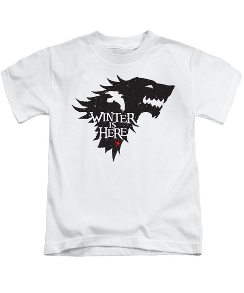 Winter Is Here Kids T-Shirt by Edward Draganski
