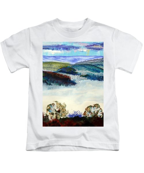 Winter Misty Morning In Devon Kids T-Shirt