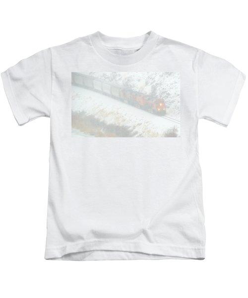 Winter Train Kids T-Shirt