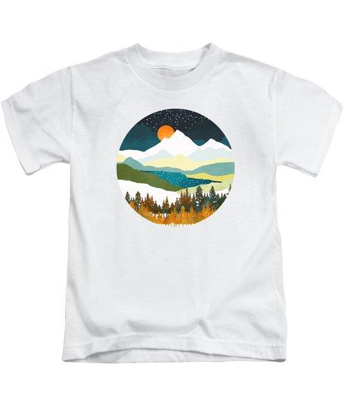 Winters Night Kids T-Shirt
