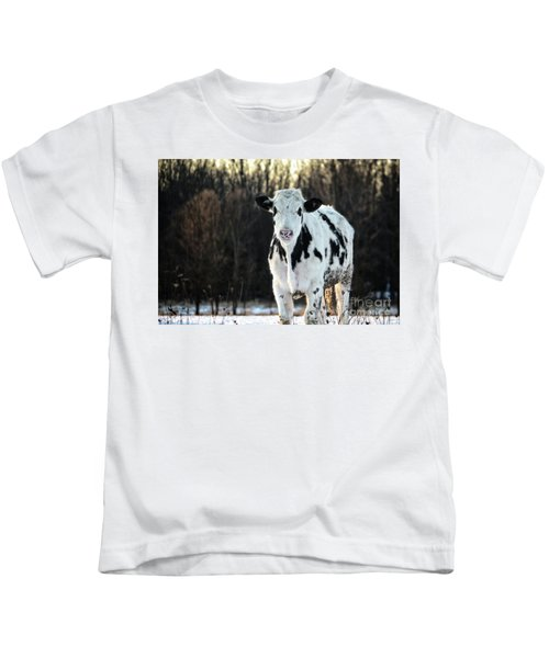 Wisconsin Dairy Cow Kids T-Shirt