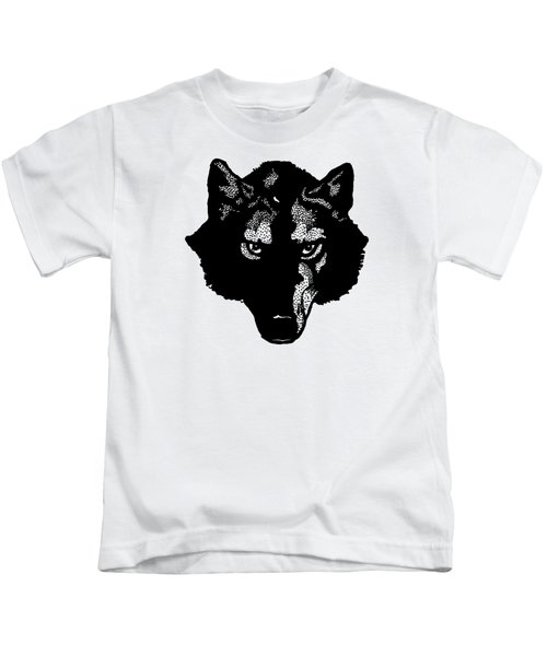 Wolf Tee Kids T-Shirt by Edward Fielding