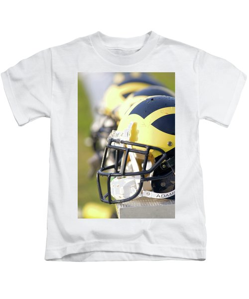 Wolverine Helmets On A Bench In The Morning Kids T-Shirt