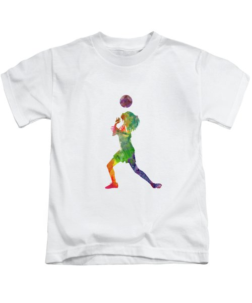 Woman Soccer Player 06 In Watercolor Kids T-Shirt