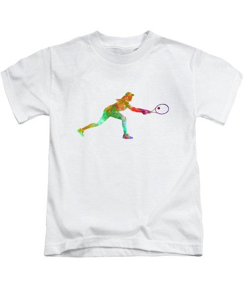 Woman Tennis Player Sadness 02 In Watercolor Kids T-Shirt