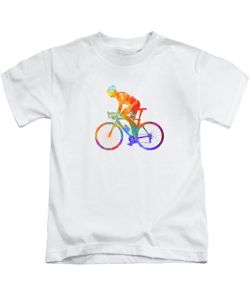 Woman Triathlon Cycling 01 Kids T-Shirt