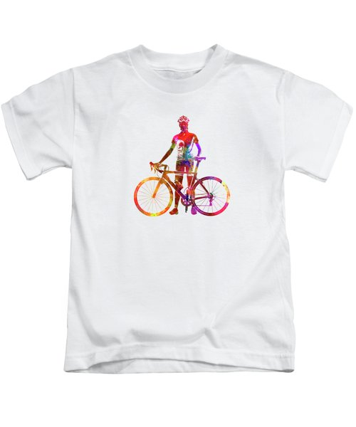 Woman Triathlon Cycling 02 Kids T-Shirt