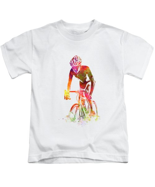 Woman Triathlon Cycling 04 Kids T-Shirt