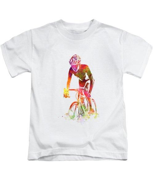 Woman Triathlon Cycling 04 Kids T-Shirt