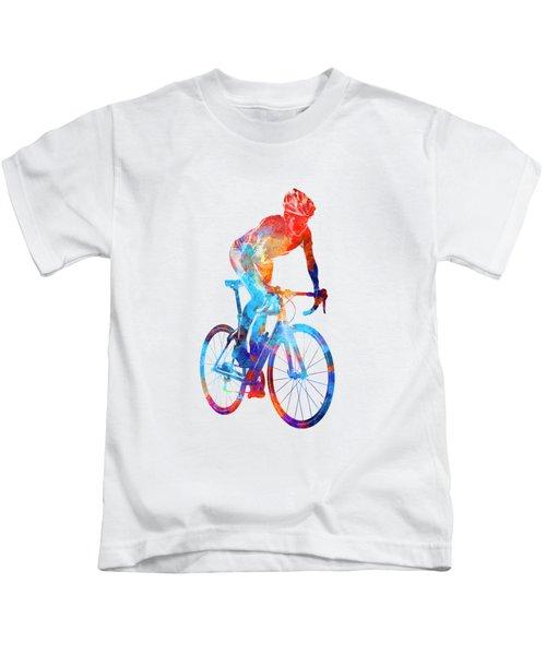 Woman Triathlon Cycling 06 Kids T-Shirt