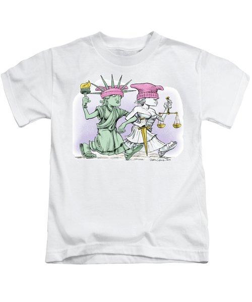 Women's March On Washington Kids T-Shirt
