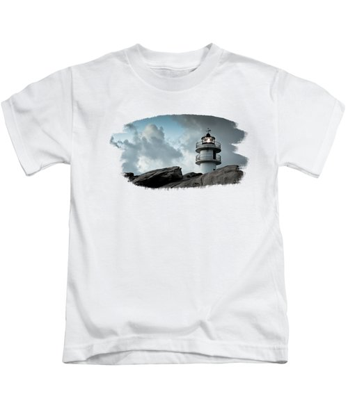 Working Lighthouse Isolated On White Kids T-Shirt