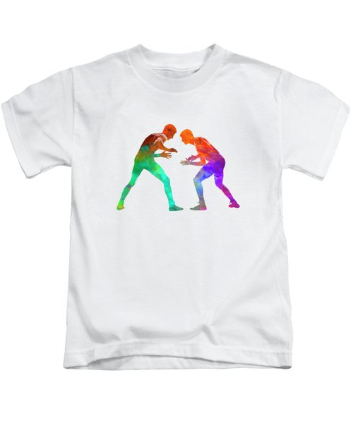 Wrestlers Wrestling Men 01 In Watercolor Kids T-Shirt