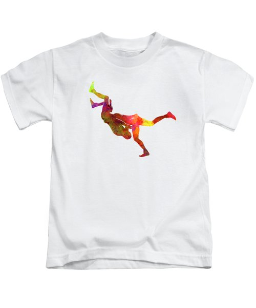 Wrestlers Wrestling Men 02 In Watercolor Kids T-Shirt