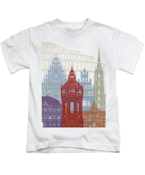 Wroclaw Skyline Poster Kids T-Shirt