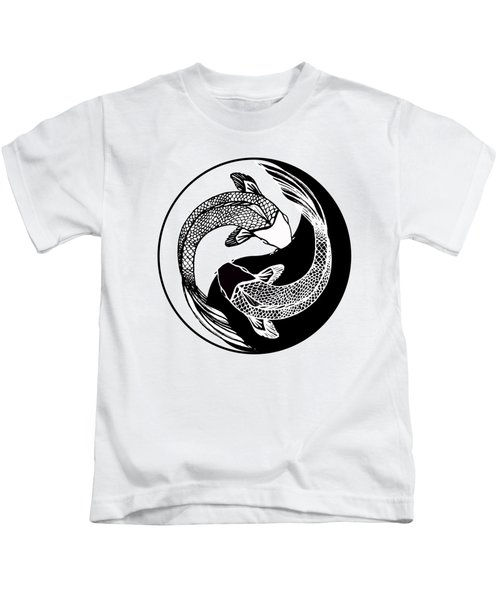 Yin Yang Fish Kids T-Shirt by Stephen Humphries