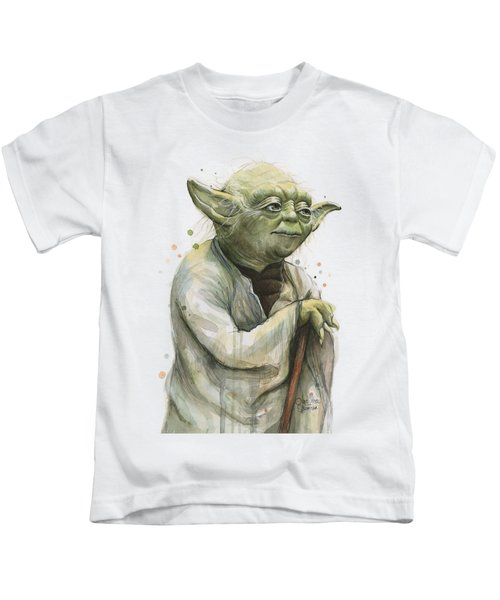 Yoda Portrait Kids T-Shirt