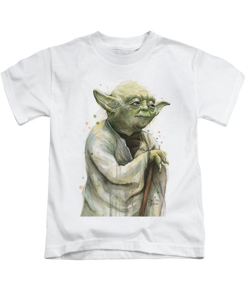 Yoda Watercolor Kids T-Shirt