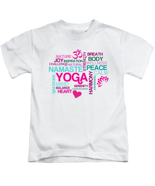 Yoga Studio Pastel Harmony Kids T-Shirt