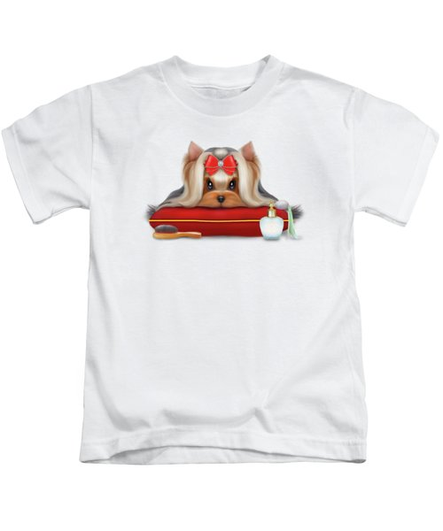 Yorkie Beauty Kids T-Shirt