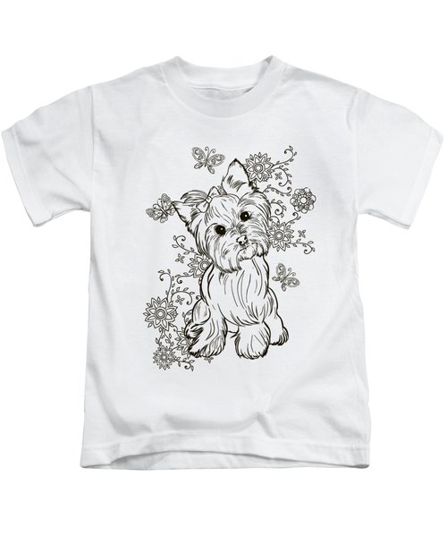 Yorkie Terrier Kids T-Shirt