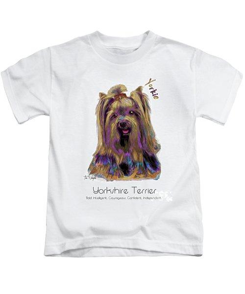 Yorkshire Terrier Pop Art Kids T-Shirt