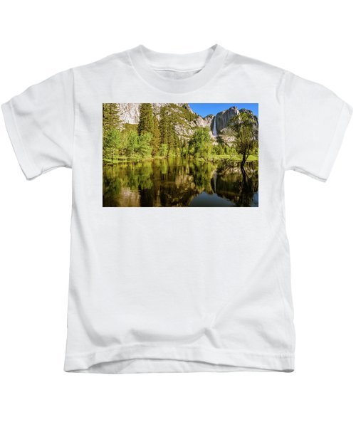 Yosemite Reflections On The Merced River Kids T-Shirt