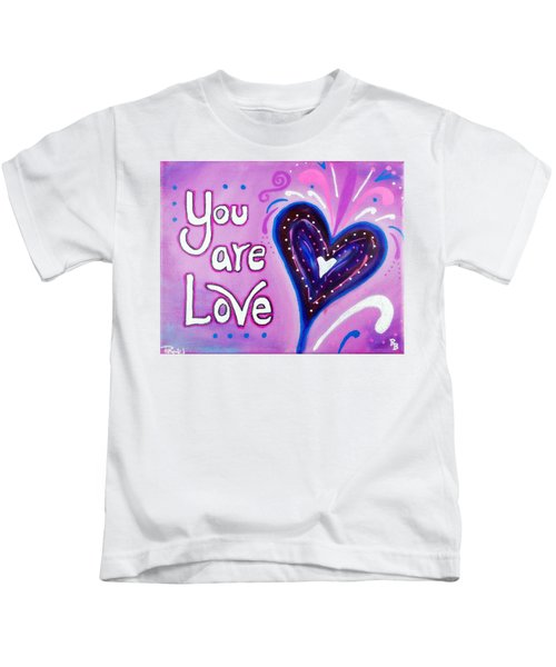 You Are Love Purple Heart Kids T-Shirt
