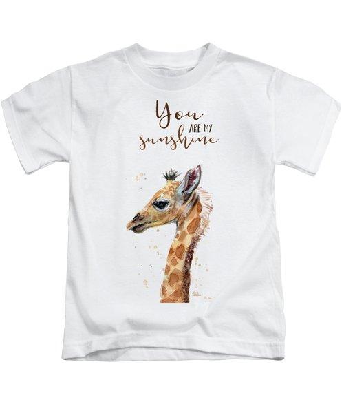 You Are My Sunshine Giraffe Kids T-Shirt