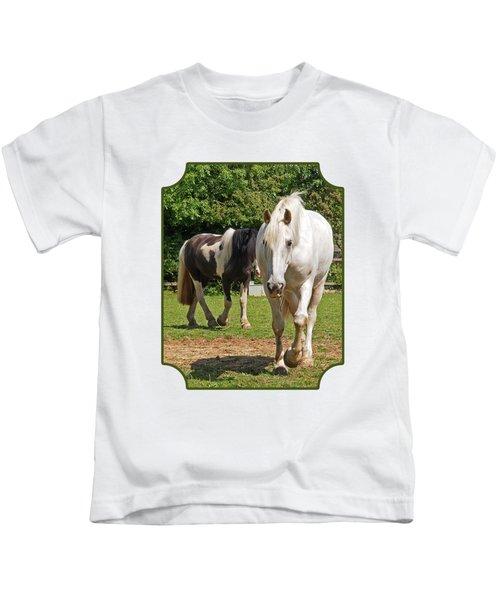 You Lead I'll Follow - Horse Friends Kids T-Shirt