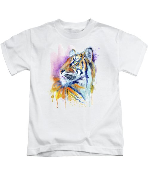 Young Tiger Portrait Kids T-Shirt