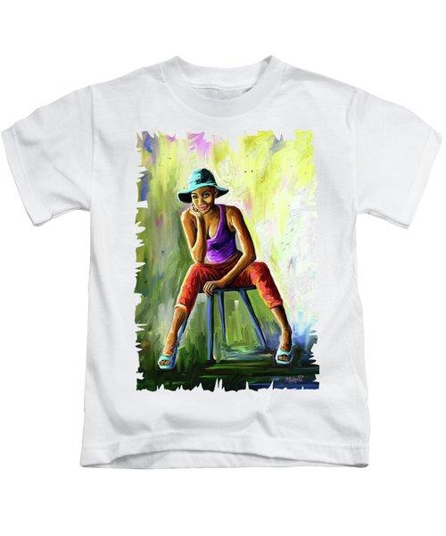 Young Woman Kids T-Shirt