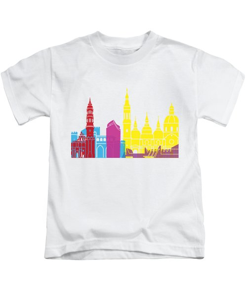 Zaragoza Skyline Pop Kids T-Shirt