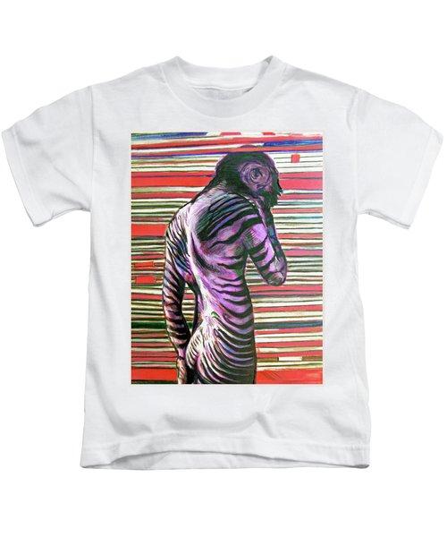 Zebra Boy Battle Wounds Kids T-Shirt