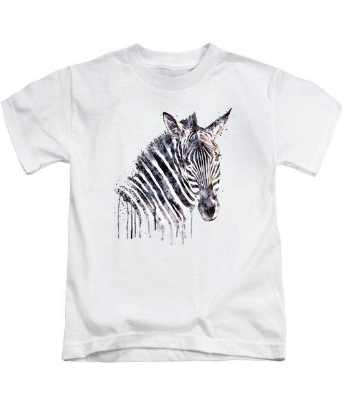 Zebra Head Kids T-Shirt
