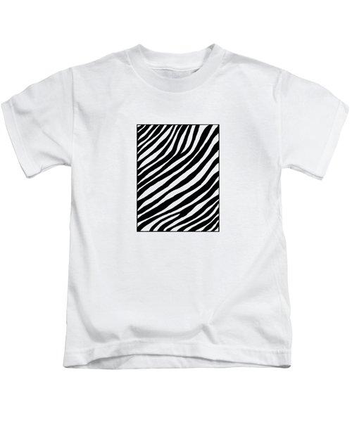 Zebra Kids T-Shirt by Konstantin Sevostyanov