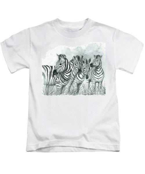 Zebra Quartet Kids T-Shirt